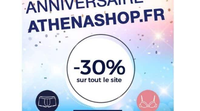 Anniversaire Athéna -30% sur tout le site
