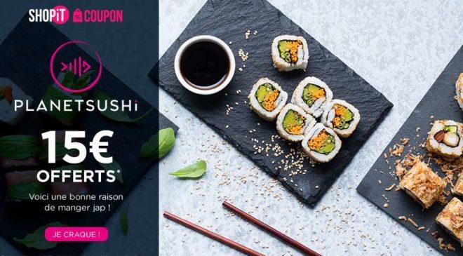 bon d achat planet sushi 5 pour obtenir 15 de remise. Black Bedroom Furniture Sets. Home Design Ideas