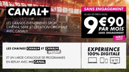 Canal Plus sans engagement en vente privée