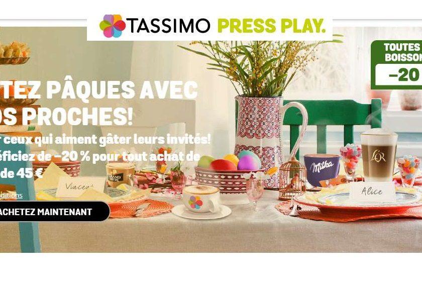 Capsules Tassimo 20% de remise sur toute la gamme