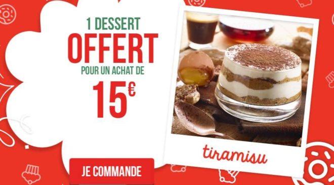 Code promo Pizza Pai à emporter 1 dessert offert