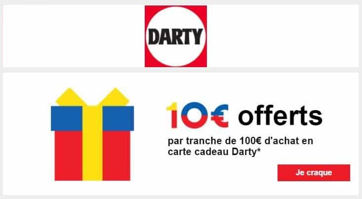 Darty 10 euros offerts tous les 100 euros d'achat