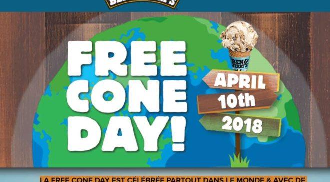 Free Cone Day 2018 les glaces gratuites de Ben & Jerry's le 10 avril