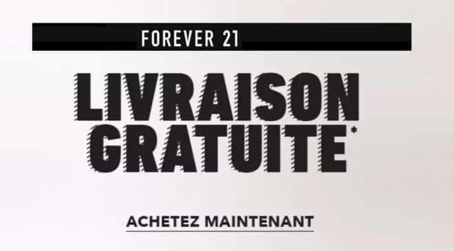 Livraison gratuite sans minimum sur Forever21