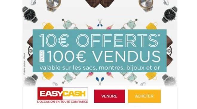 Magasin Easycash 100€ vendus = 10€ offerts
