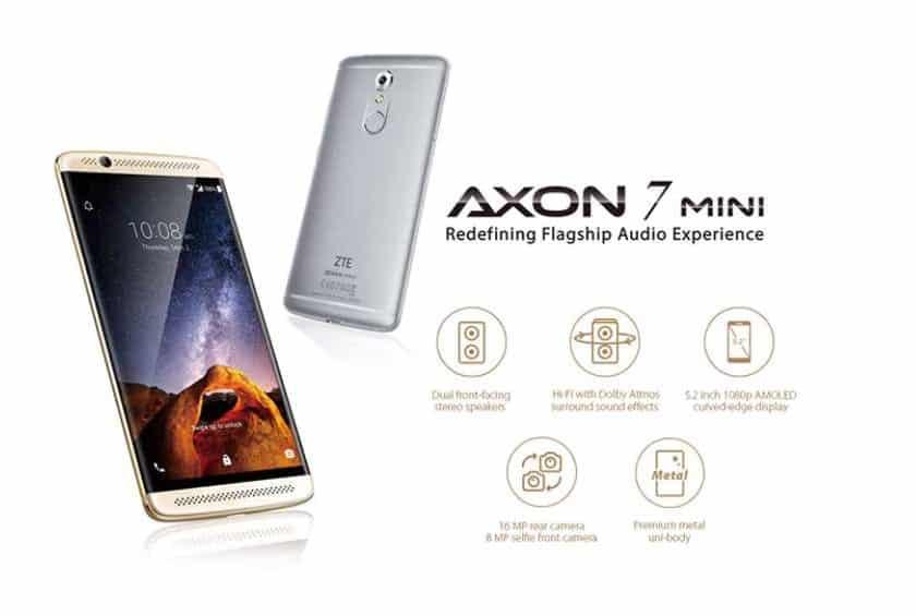 Moins de 100€ le smartphone ZTE Axon 7 Mini Golden (Octa Core 3Go 32Go 16mpx)