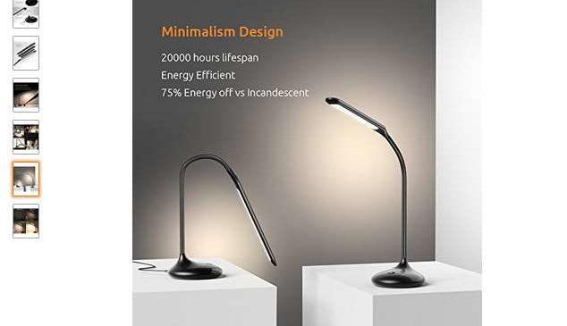 Moins de 9€ la lampe de bureau LED rechargeable