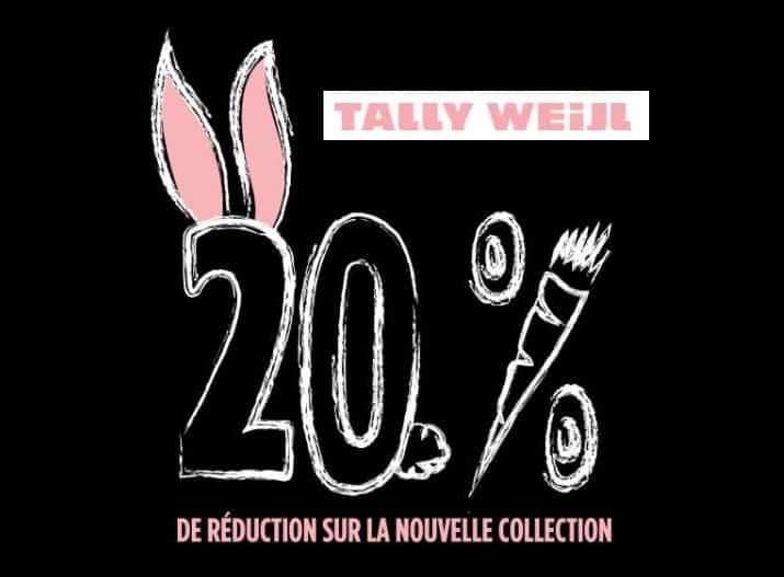 Nouvelle collection Tally Weijl réduction de 20% via un code promo