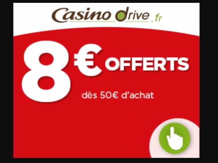 Offre de bienvenue Casino Drive remise de 8€