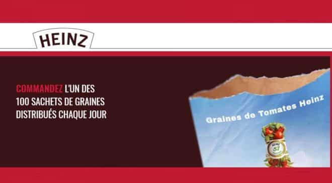 Recevez un sachet de graines de tomates gratuitement avec Heinz