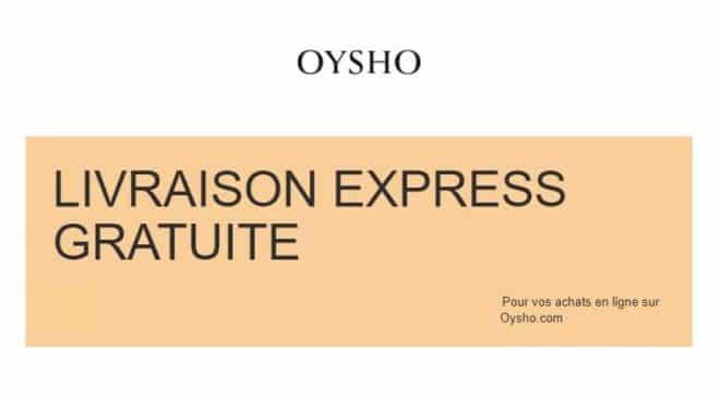 livraison express gratuite sur Oysho