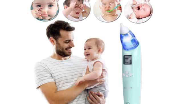 mouche nez bébé électrique musicale avec écran LED INTEY
