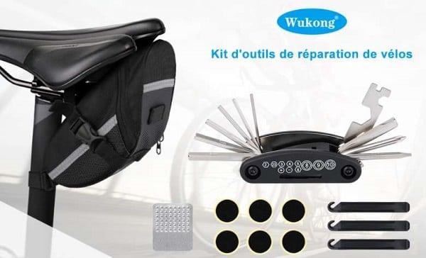 trousse avec kit réparation 16 en1 pour vélo wukong
