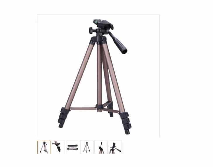 11,66€ le trépied pour appareil photo aluminium Weifeng avec sac de transport