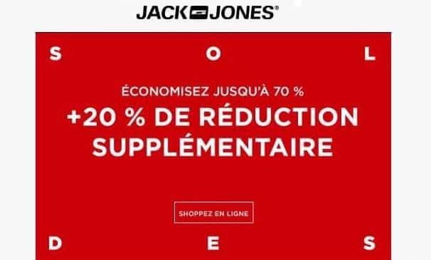 20% de remise supplémentaire sur les soldes Jack&Jones