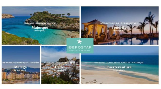 25€ de consommation offerte 10% de remise dans les hôtels Iberostar