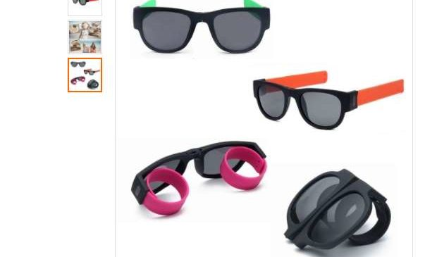 2,5€ les lunettes de soleil fun UV400 bracelet