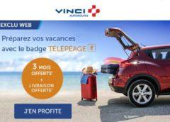 3 mois d'abonnement Télépéage VINCI Autoroutes offerts + livraison gratuite