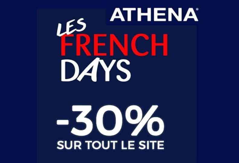 30% sur tout pour les French Days Athéna