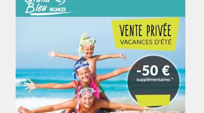 50€ de remise supplémentaire sur les vacances en été