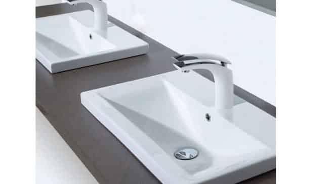52,99€ le robinet mitigeur de vasque de salle de bain blanc laqué et chrome