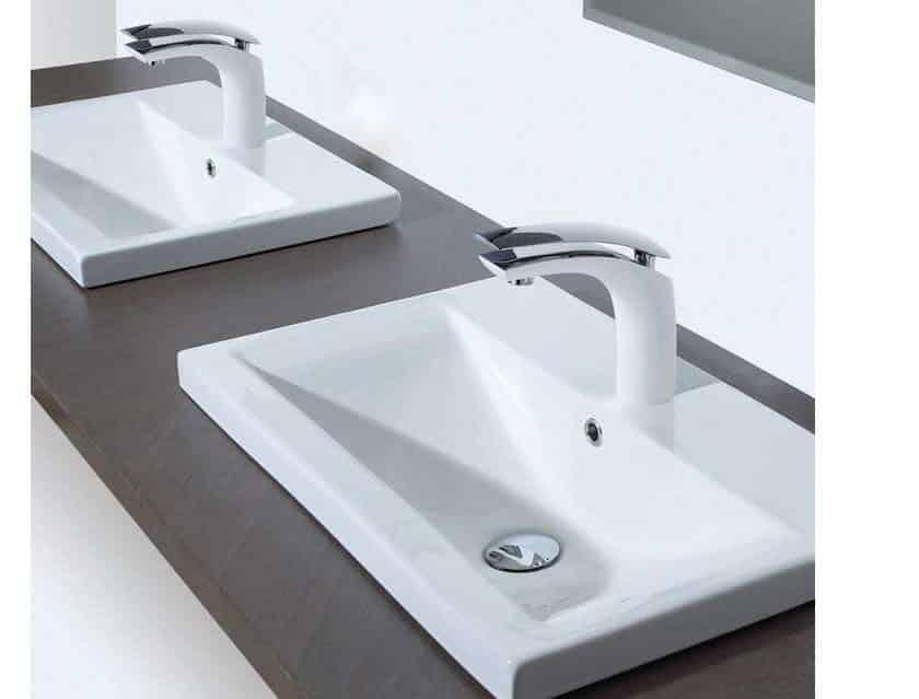 23 99 le robinet de salle de bain chrom bec pivotant