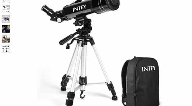 53,19€ télescope astronomique Intey avec sac de transport pour débutant