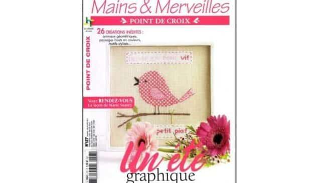 Abonnement magazine Mains et Merveilles Point de croix pas cher