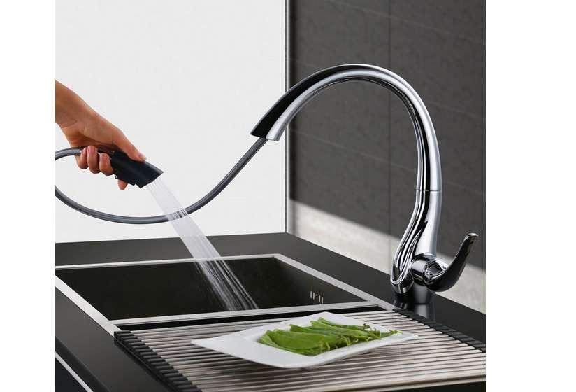 Bonne affaire robinet mitigeur de cuisine avec douchette extractible et débit régulable