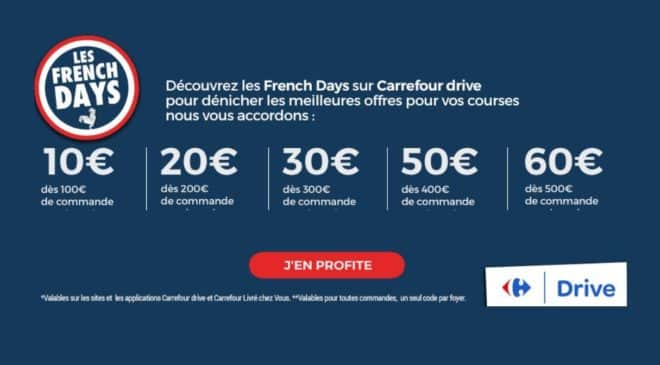 Carrefour Drive French Days