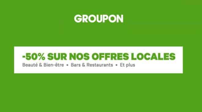 Code promo Groupon 50% de remise supplémentaire