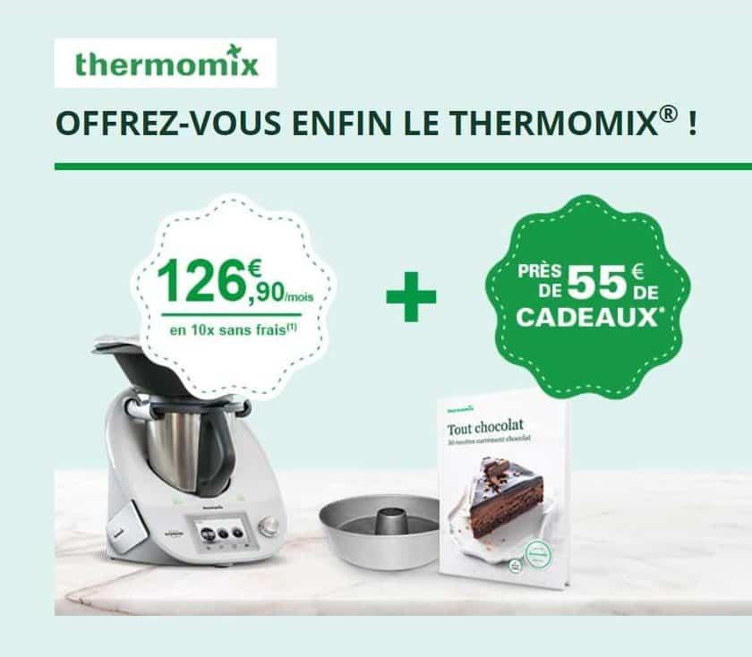 Crédit gratuit en 10 fois pour l'achat d'un Thermomix