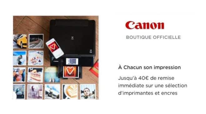 De 10 à 40€ de remise immédiate sur les imprimantes Canon Pixma