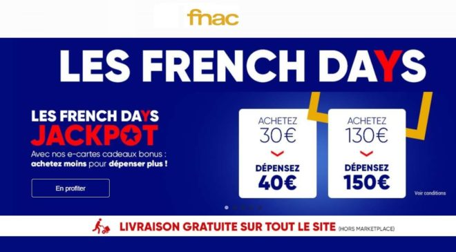 E-cartes French Days Fnac – Darty