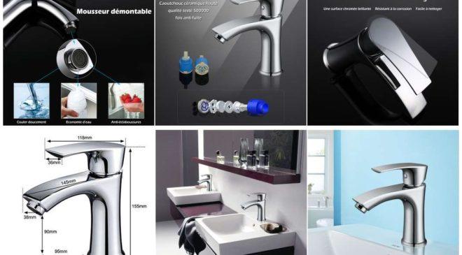FLASH robinet mitigeur de salle de bain chromé Homelody