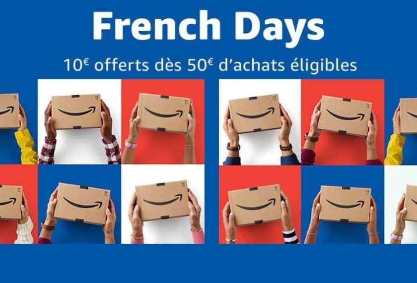 French Days Amazon 10€ de remise dès 50€ d'achats
