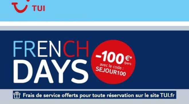 French Days Tui -100€ par personne sur les séjours