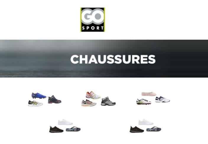 Go Sport 20€ de remise sur les chaussures