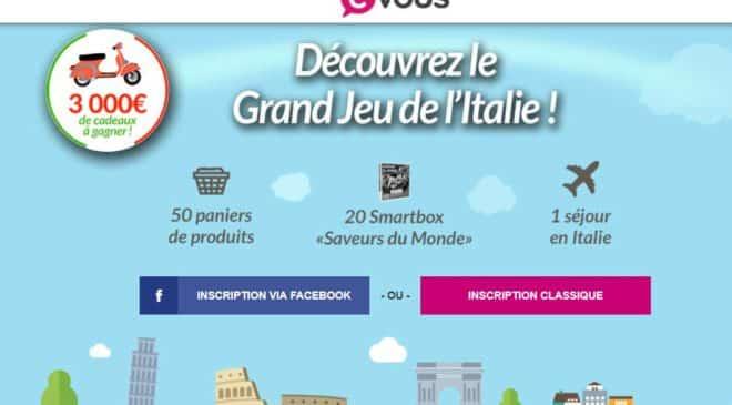 Jeu concours CVous 1 séjour en Italie,