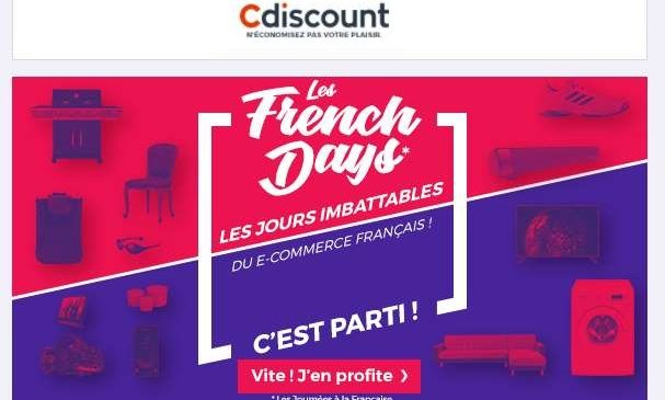 Les French Days Cdiscount premier arrivé premier servi