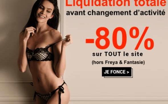 Liquidation totale de1001 Dessous -80% sur TOUT le site