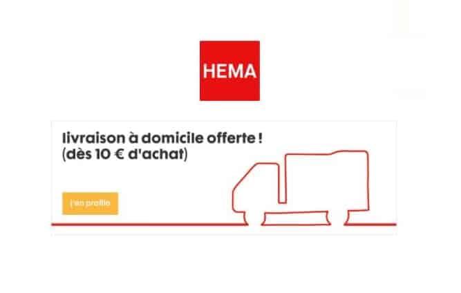 Livraison à domicile offerte dès 10 € sur Hema