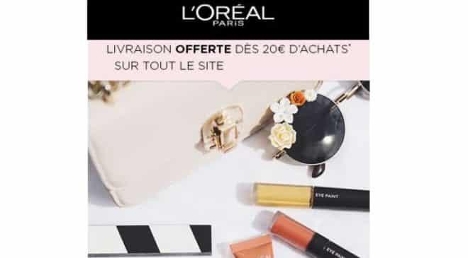 Livraison gratuite sur L'Oréal dès 20€