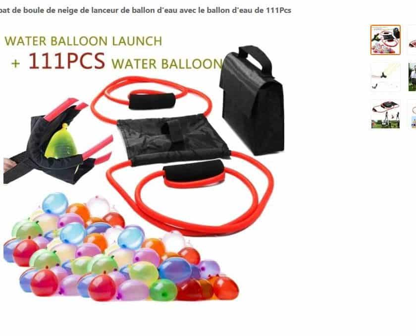 Moins de 10€ la catapulte à bombe à eau