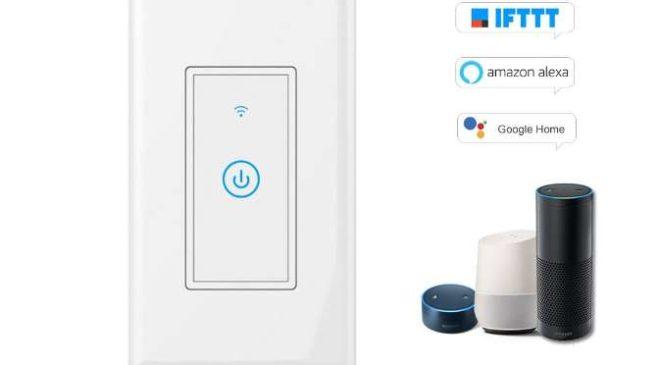 Moins de 15€ le smart-interrupteur tactile Wi-Fi