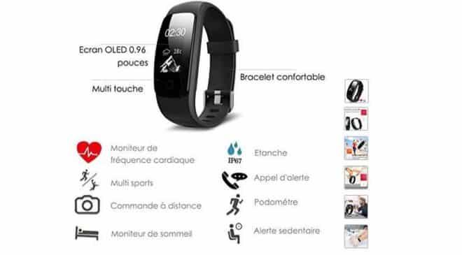 Moins de 19€ montre bracelet sports connectée Aneken