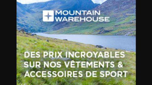 Mountain Warehouse remise sur tout même sur le rayon liquidation