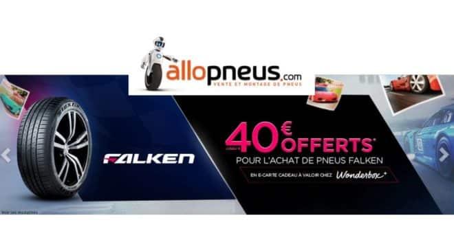 Offre pneus FALKEN carte Wonderbox sur AlloPneus