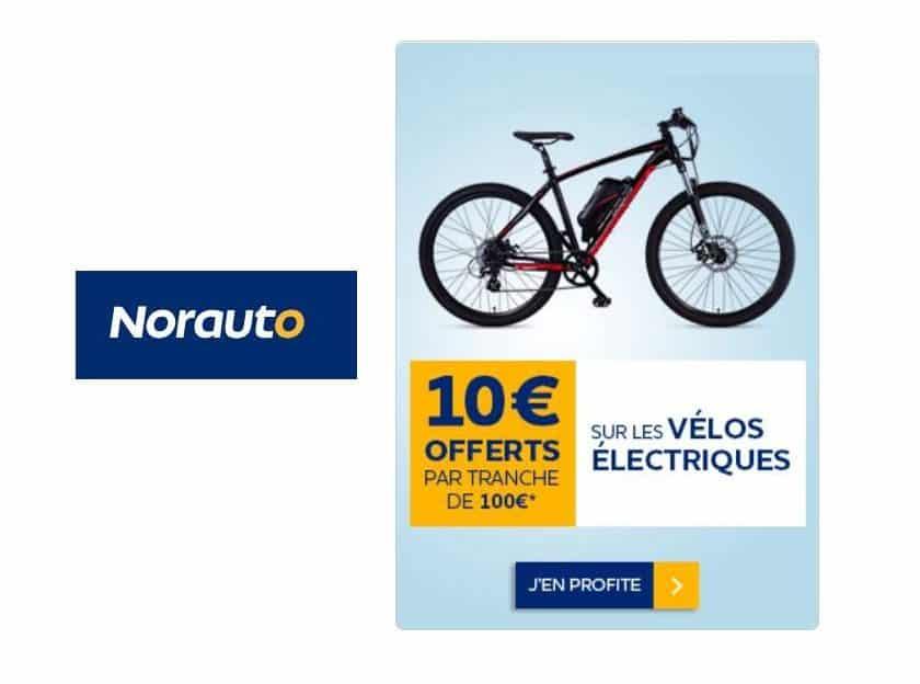 Opération vélos électriques Norauto 10€ offerts tous les 100€