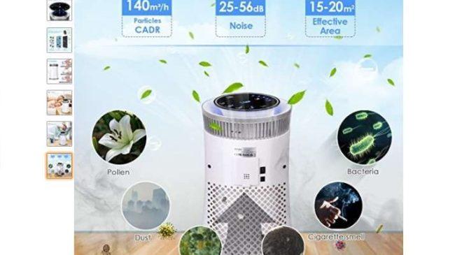 Moins de 50€ le purificateur d'air Intey avec filtre HEPA (odeur, fumée de cigarette, poussières, pollens…)
